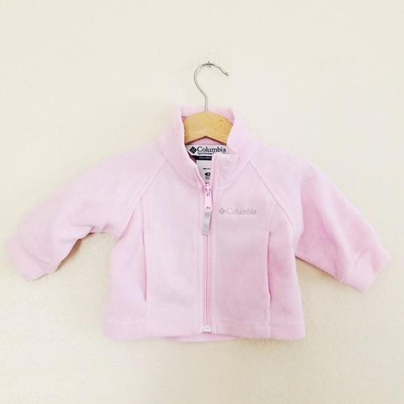 Columbia Baby Girl Fleece Zip Up Jacket 6mo Pink